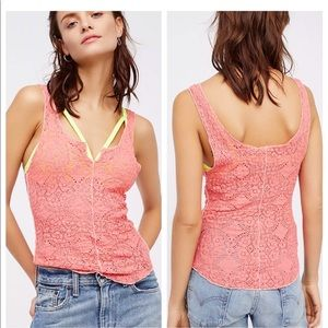 Free People Intimately lace tank cami